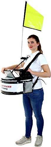 Up to 15 kg of material can be safely carried on any product with adjustable vendor tray strap for easy carrying.