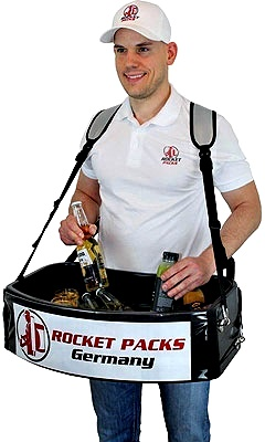 Rocketpacks making and selling innovative products such as Usherette Trays for the events and leisure industry.